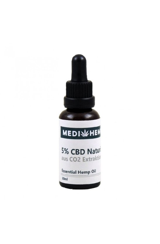 MediHemp CBD Olie Raw CO2 Extractie 5% CBD 30ml