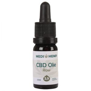 Medihemp CBD Olie RAW 2,5% (10ml)