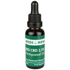 MediHemp Bio CBD Olie Biologisch 2,5% CBD 30ml